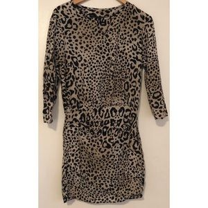Zara leopard print midi dress